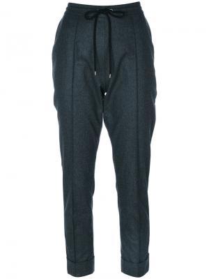 Классические брюки с завязкой на талии Kenzo. Цвет: серый