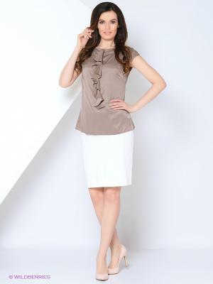 Блузка YUVITA. Цвет: бежевый