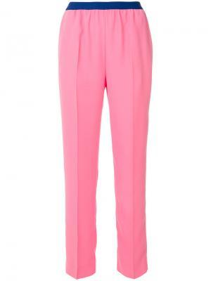 Прямые брюки Maison Margiela. Цвет: розовый и фиолетовый