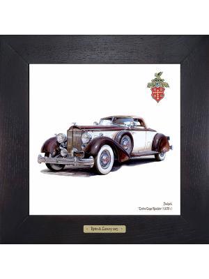 Картина-сувенир Packard, Twelve Coupe Roadster (1935 г.) Ceramic Picture. Цвет: бежевый