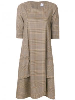 Flared knitted dress Ultràchic. Цвет: коричневый