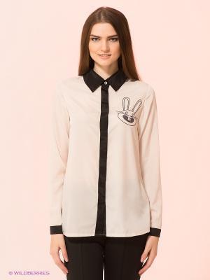 Рубашка Kling. Цвет: кремовый, черный
