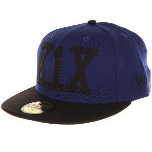 Бейсболка с прямым козырьком  Simple Type 59/50 Ultrablue/Black K1X. Цвет: синий,черный