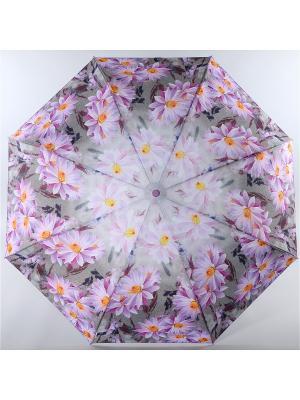 Зонт Trust. Цвет: серый меланж, оранжевый, сиреневый