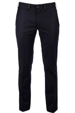 Прямые брюки с карманами Cortigiani. Цвет: черный
