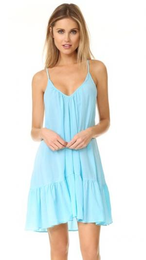 Мини-платье St. Tropez с оборками 9seed. Цвет: ярко-желтый