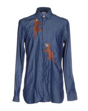 Джинсовая рубашка PAUL SMITH. Цвет: синий