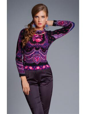 Блузка Арт-Деко. Цвет: черный, розовый, фиолетовый