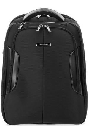 Текстильный городской рюкзак с большим количеством карманов Samsonite. Цвет: черный