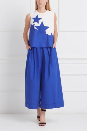 Блузка Delpozo. Цвет: синий, белый