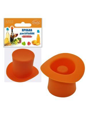 Пробка  для бутылок Шляпа МультиДом. Цвет: оранжевый