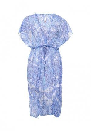 Платье пляжное Charmante. Цвет: голубой