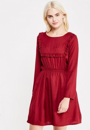 Платье Compania Fantastica. Цвет: бордовый