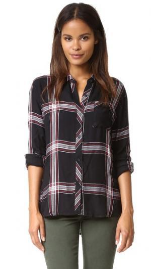 Рубашка на пуговицах Hunter RAILS. Цвет: блестящий черный/белый/рубиновый