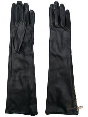 Длинные перчатки Moschino. Цвет: чёрный