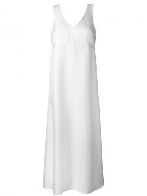 Платье с V-образным вырезом Cherevichkiotvichki. Цвет: белый