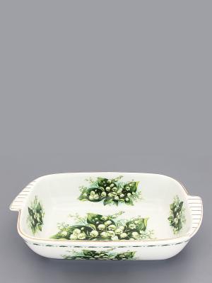 Шубница Ландыши Elan Gallery. Цвет: белый, зеленый