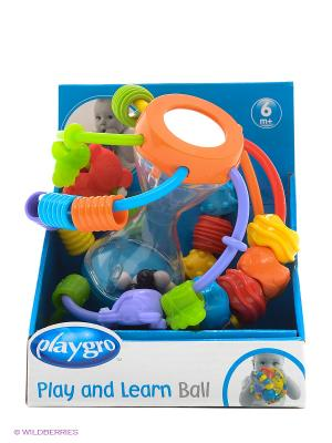 Playgro Развивающая игрушка ШАР 4082679. Цвет: красный, оранжевый, белый, черный, синий, зеленый, фиолетовый