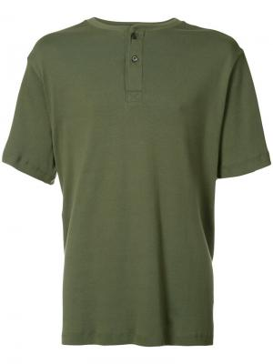 Футболка Henley Ovadia & Sons. Цвет: зелёный
