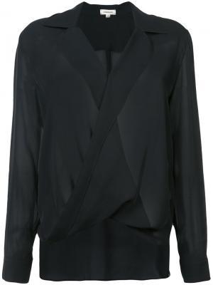 Драпированная блузка Lagence L'agence. Цвет: чёрный