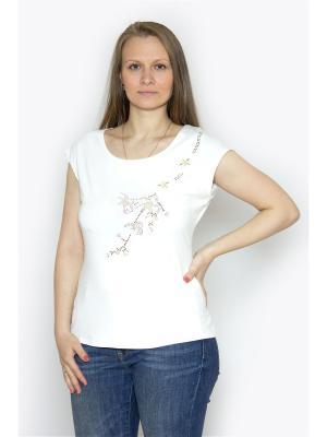 Блузка Vanrica Fashion. Цвет: белый