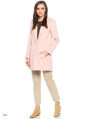 Пальто Jennyfer. Цвет: бледно-розовый, персиковый