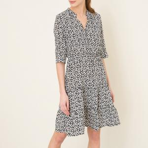 Платье с рисунком, эксклюзивный товар Brand Boutique GERARD DAREL. Цвет: экрю/черный