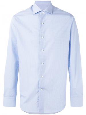 Рубашка с узором из кругов Alessandro Gherardi. Цвет: синий