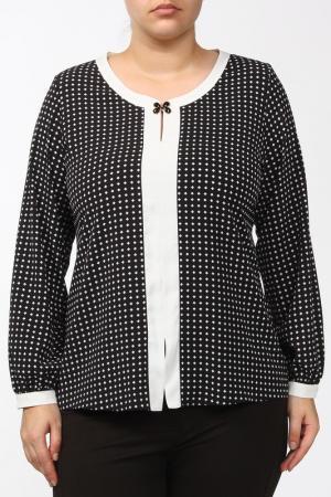Блуза FOMANTA. Цвет: черный, белый