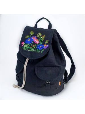 Городской рюкзак TIMBAG. Цвет: черный, синий