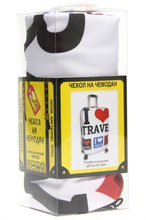 Чехол на чемодан SOVA COVER. Цвет: я люблю путешествия