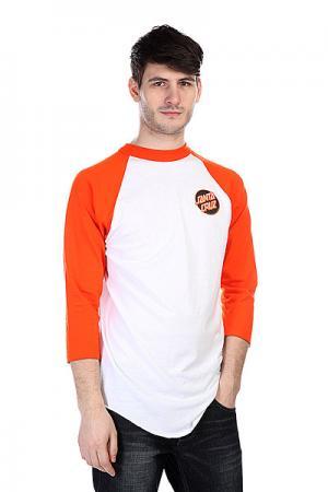 Лонгслив  Other Dot Raglan White/Orange Santa Cruz. Цвет: белый,оранжевый