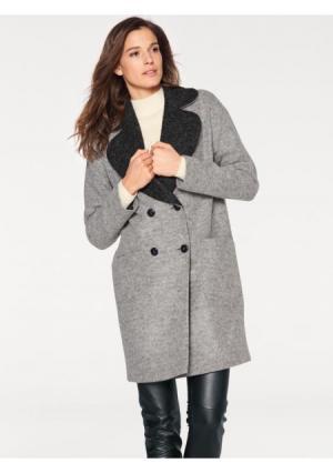 Пальто PATRIZIA DINI by Heine. Цвет: серый меланжевый