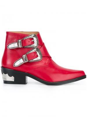 Ботинки по щиколотку Polido Toga. Цвет: красный
