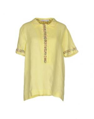 Pубашка LA FABBRICA DEL LINO. Цвет: желтый