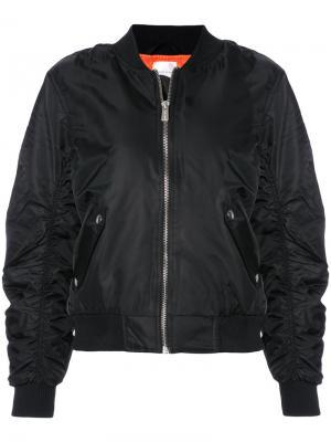 Классическая куртка-бомбер Anine Bing. Цвет: чёрный