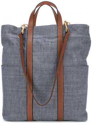 Джинсовая сумка-тоут Mismo. Цвет: синий