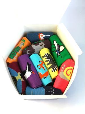 Носки, 10 пар Big Bang Socks. Цвет: синий, желтый, зеленый