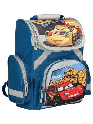 Рюкзак. Disney Cars. Цвет: голубой, желтый, красный