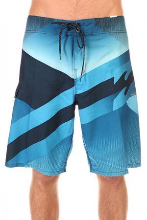 Шорты пляжные  Slice 21 Blue Billabong. Цвет: синий,голубой
