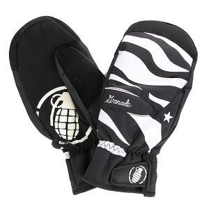 Варежки сноубордические женские  Instinict Mitt Black Grenade. Цвет: черный,белый