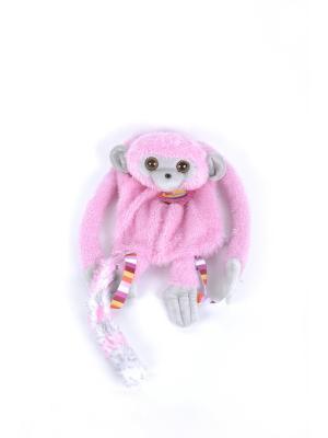 Мягкая игрушка Рюкзашка Лемур 13.82.1 цвет розовый Malvina. Цвет: розовый