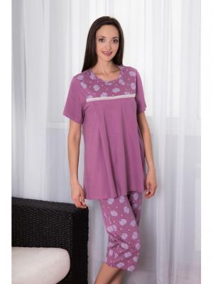 Домашний костюм Violett. Цвет: лиловый, бежевый