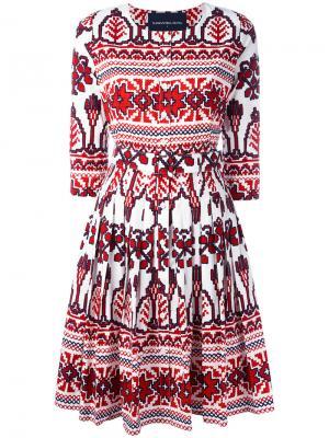 Платье Lauren Samantha Sung. Цвет: красный
