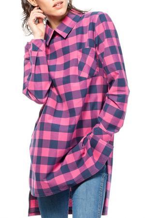 Рубашка BeWear. Цвет: розовый