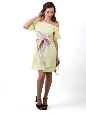 Платье Vika Smolyanitskaya. Цвет: светло-желтый