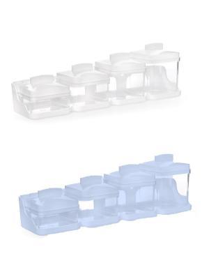 Комплект из 2х наборов для специй. Полимербыт. Цвет: голубой,белый