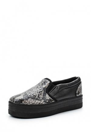 Слипоны Retro Shoes. Цвет: серый