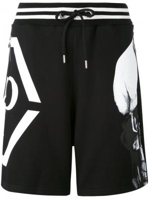 Спортивные шорты Okami Philipp Plein. Цвет: чёрный