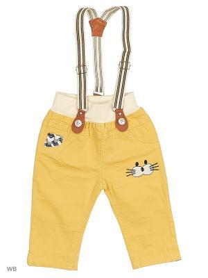 Бриджи с подтяжками Kidly. Цвет: желтый